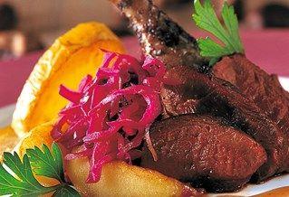 Recept voor Eendenborstfilet met rode portsaus   Solo Open Kitchen