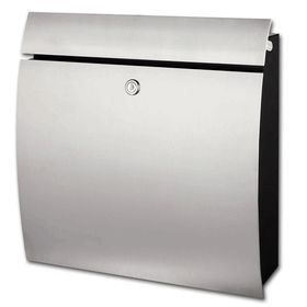 Stainless Steel Extra Wide Wall Mounted Stainless Steel Modern Mailbox with Lock