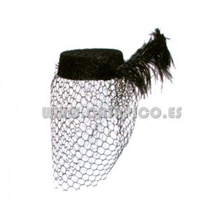 Gorro Viuda Fieltro Negro. #disfracescasapico #sombrero #disfraz #sombrerosparadisfraz