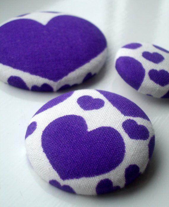 Love Buttons Purple by LittleMissQuarter