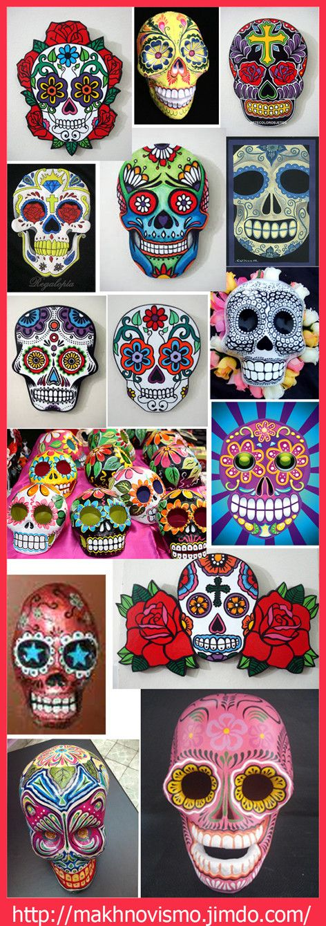 Beautiful Calaveras Mexicanas Tradition deco for the day of The dead party. SLVH ♥♥♥♥