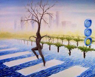 La danza della natura Olio su tela 50x30