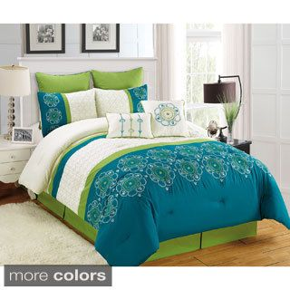 Fashion Street Italiana 8-piece Comforter Set | Overstock.com Shopping - The Best Deals on Comforter Sets