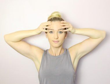 smooth out wrinkles with 6 easy face yoga exercises with