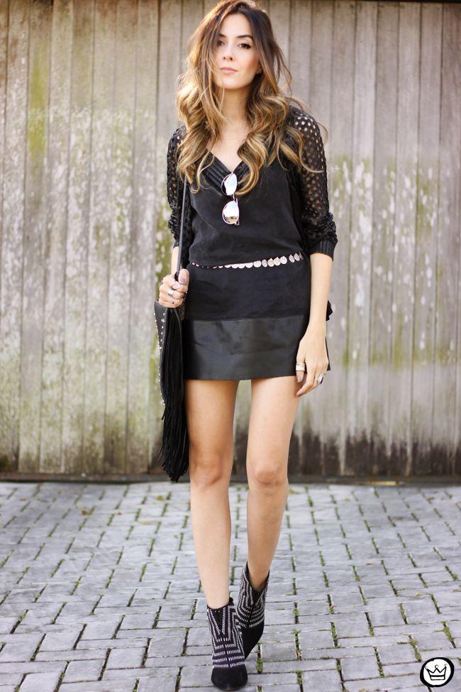 all black boho outfit