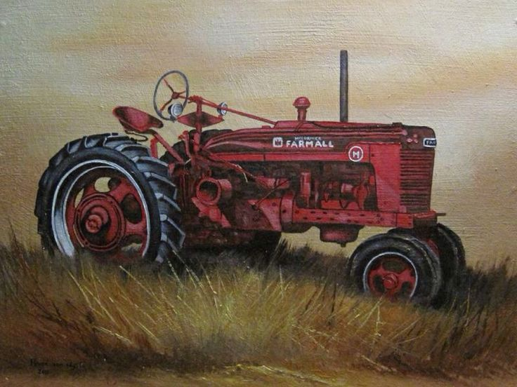 Old farmall tractor art pinterest tractors for International harvester room decor