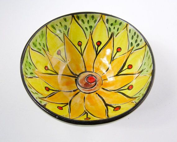 Ceramic Serving Bowl Clay Majolica Pottery by ClayLickCreekPottery, $30.00