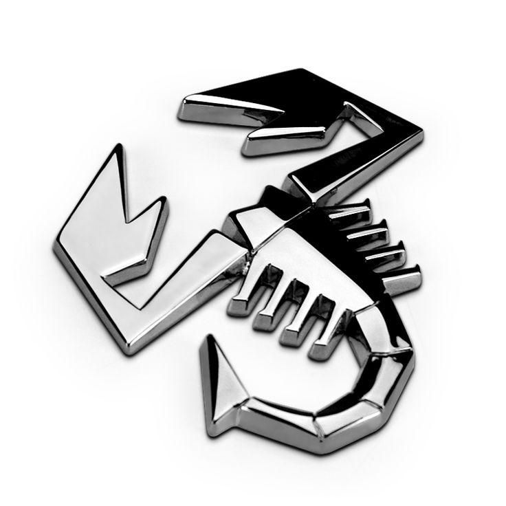 EDFY 1pcs 3D 3M Car Abarth AR Metal Adhesive Badge Emblem logo Decal Sticker…
