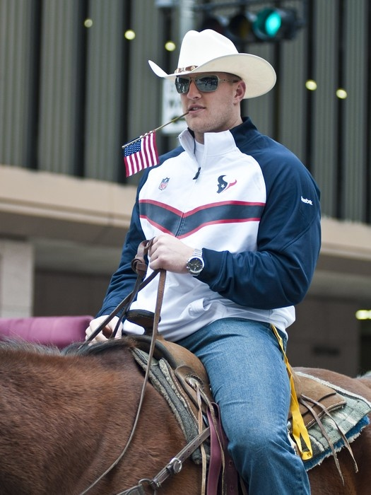 JJ Watt Grand Marshall for the Rodeo Parade in Downtown Houston