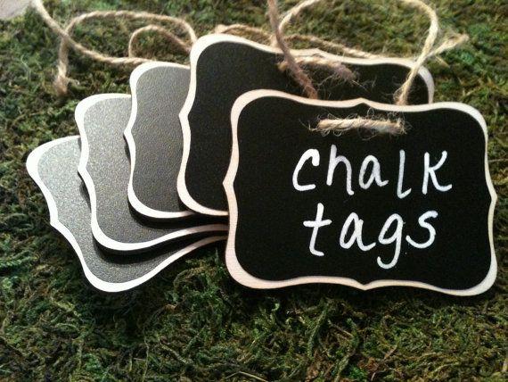 sale-Fancy Wood Chalkboard Labels - set of 4 - Basket Labels, Chalkboard Tags, Wedding Chalkboards, Rustic Wedding
