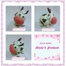 Curso online de modelado de vaca con porcelana - Maifa's Fondant