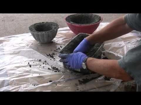 Making Hypertufa Pots Basic Program - YouTube