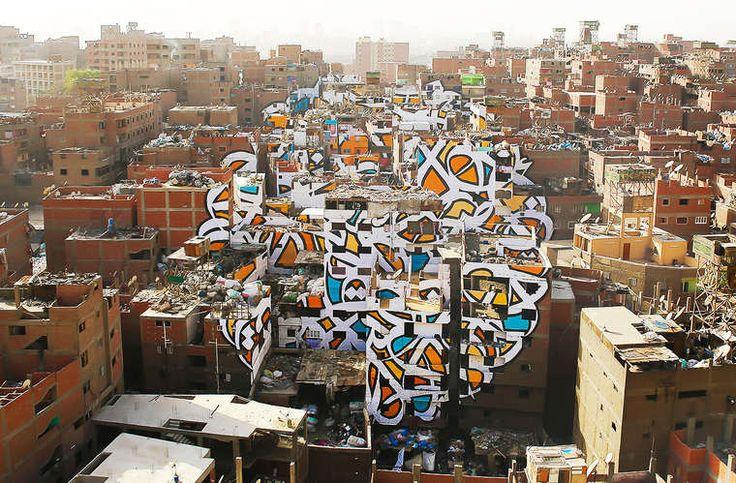 Street Art – El Seed dévoile une impressionnante création en anamorphose