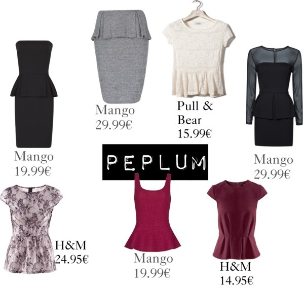 """Peplum"" by nosinmiszapatos ❤ liked on Polyvore"