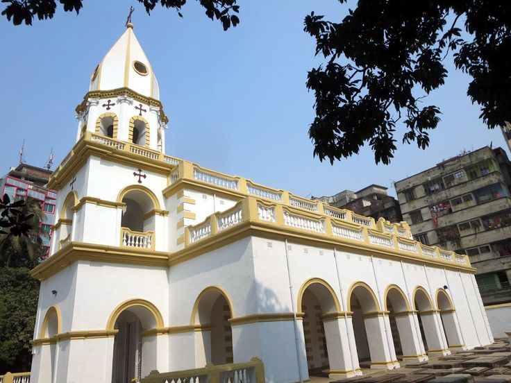 The Armenian Church of the Holy Resurrection (1781) at Dhaka, Bangladesh, recalls a community which has since moved away.
