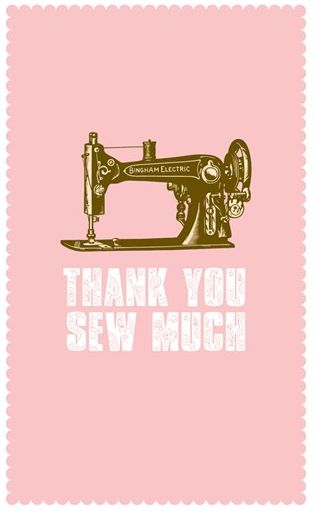 Thanks sew much - Novelty notecards