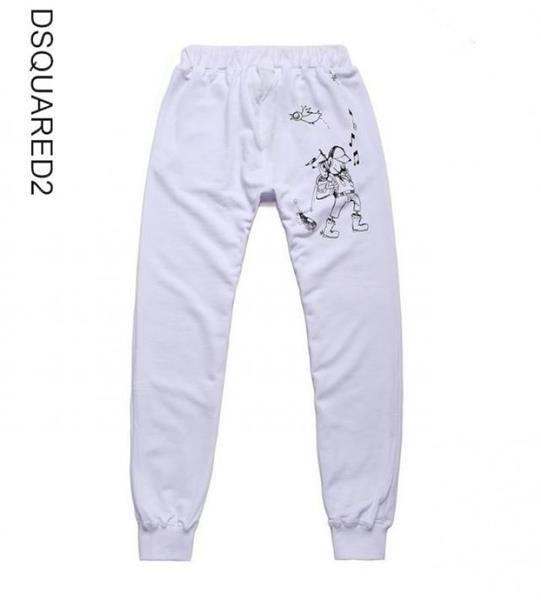 Белые полуспортивные брюки мужские