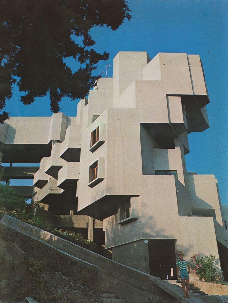 Apartment Building, Ramat Gan, Israel, 1960-65    (Alfred Neumann, Zvi Hecker and Eldar Sharon)