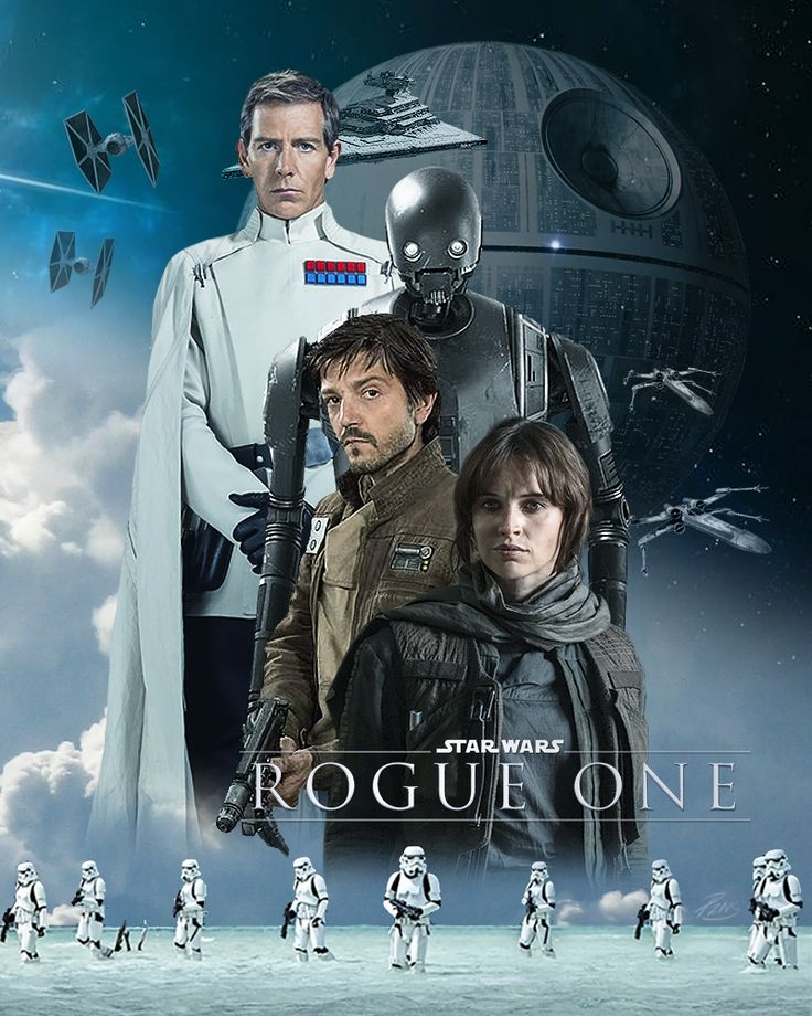 Rogue One, I tried to make it look like the new movie posters.
