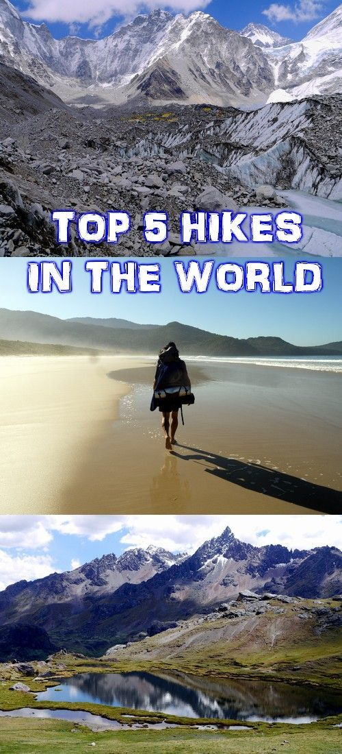 Our top 5 out of dozens of multi day hikes we've done. Impressive scenery, challenging trails, snow and jungle, beaches and glaciers, from Asia to South America.