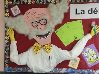 Click here to download for FREE the lab outline and bulletin board items to teach The Scientific Method!  Both in English and in French. (The mad scientist is not included.  You'll have to wing it!)