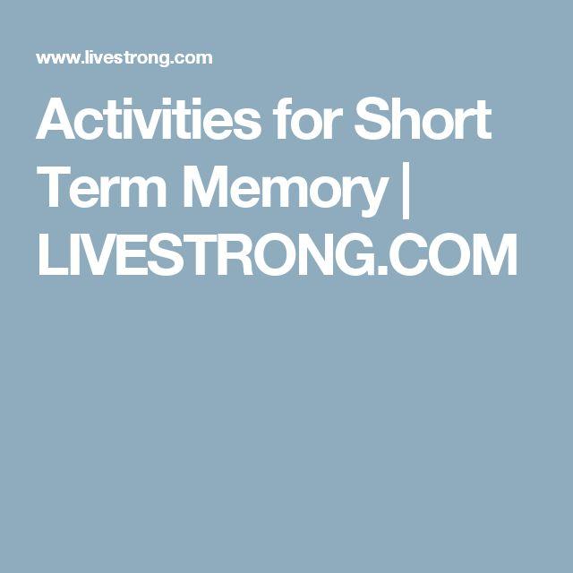 Activities for Short Term Memory | LIVESTRONG.COM