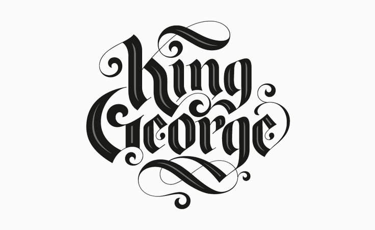 King george keithmorris calligraphy fonts pinterest