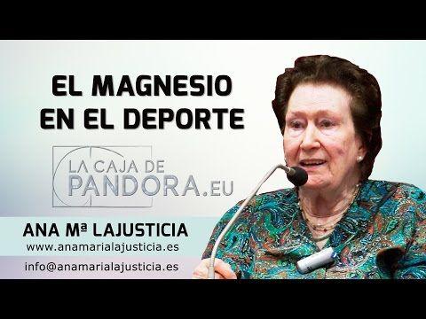 Conferencia:  El Magnesio en el Deporte por Ana Mª Lajusticia - YouTube