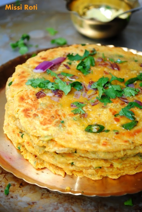 Missi roti - Spicy Indian Chickpea bread