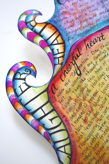 interesting curves on an art journal - visual blessings