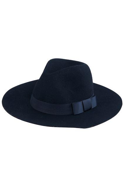 #ROMWE Bowknot Embellished Vintage Black Hat