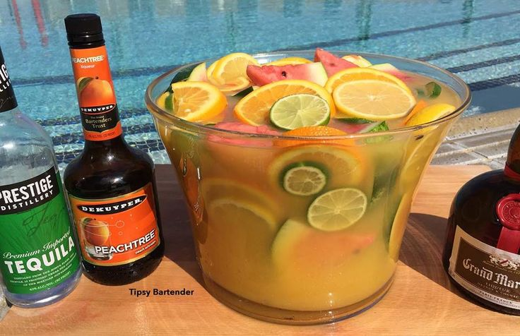 Cinco De Mayo Cadillac Margarita Bowl - For more delicious recipes and drinks, visit us here: www.tipsybartender.com