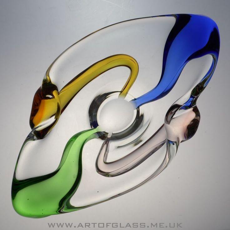 Mstisov Rhapsody glass bowl by Frantisek Zemek