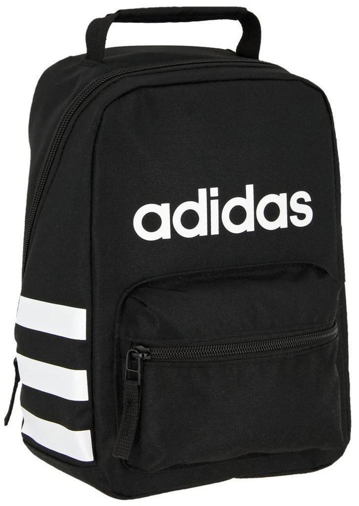fashion NEW NWT ADIDAS YOUTH SANTIAGO BLACK INSULATED SCHOOL TOTE LUNCH BOX  LUNCHBOX BAG 2756ee9edb4ba