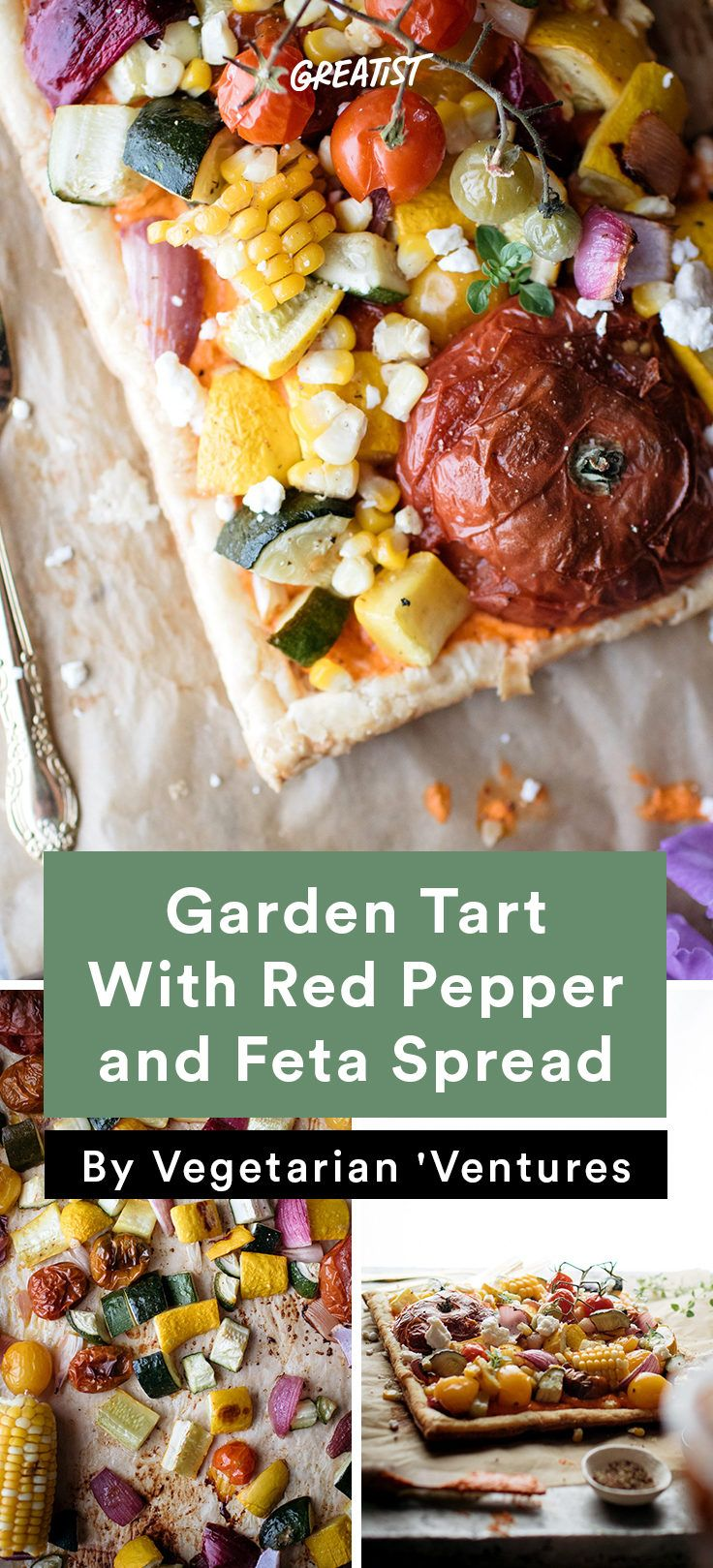 1. Garden Tart With Red Pepper and Feta Spread #healthy #vegetarian #dinner #recipes http://greatist.com/eat/healthy-vegetarian-dinner-recipes