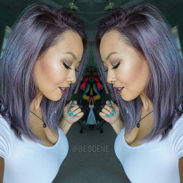 Linh Phan @bescene STEEL LAVENDER for @erika_alexandra! I used all @Schwarzkopfusa #Pearlescence for the color over prelightened hair using #Schwarzkopf #Blondme Premium Lift lightner. Mixes of 9.5-22, 9.5-29, 0-22, 0-99 7vol. #BESCENE