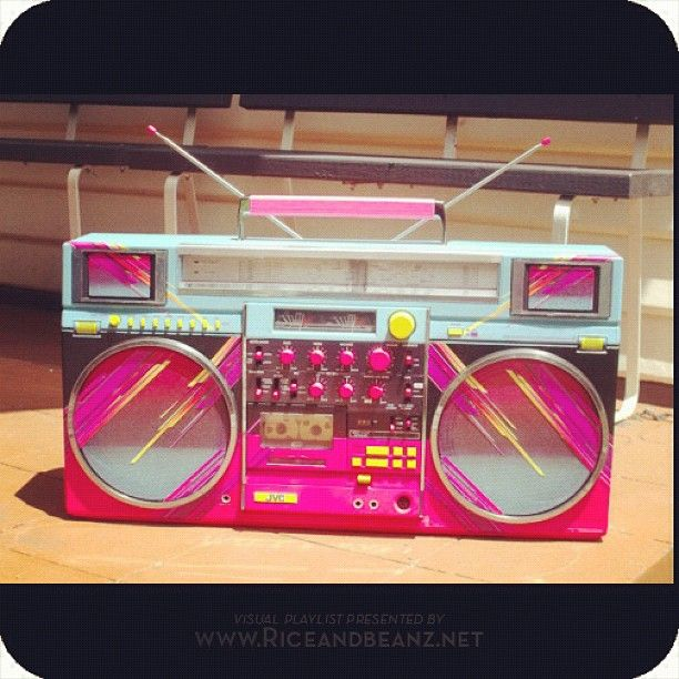 a very 80s hued boombox ___________________________________