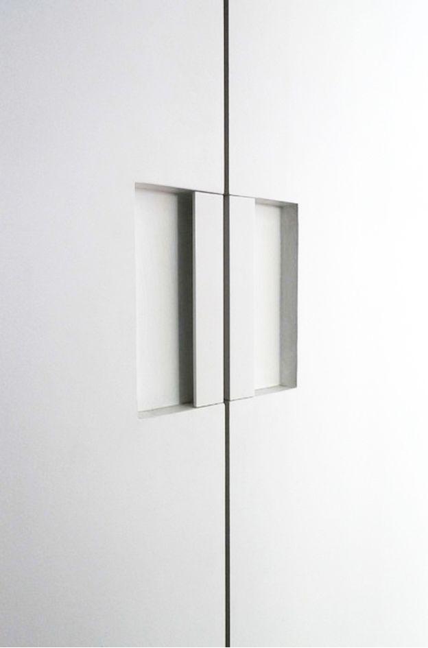 S Min Door Pull Powder Coated White by FTF Design Studio _