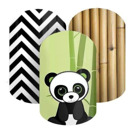 Panda NAS by Dani's Jamberry NAS Designs #nasdesigns #jamberry