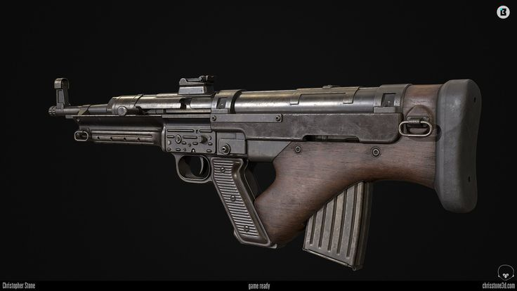 Machtgewehr 40.4 (Game Ready), Christopher Stone on ArtStation at https://www.artstation.com/artwork/qEY2z