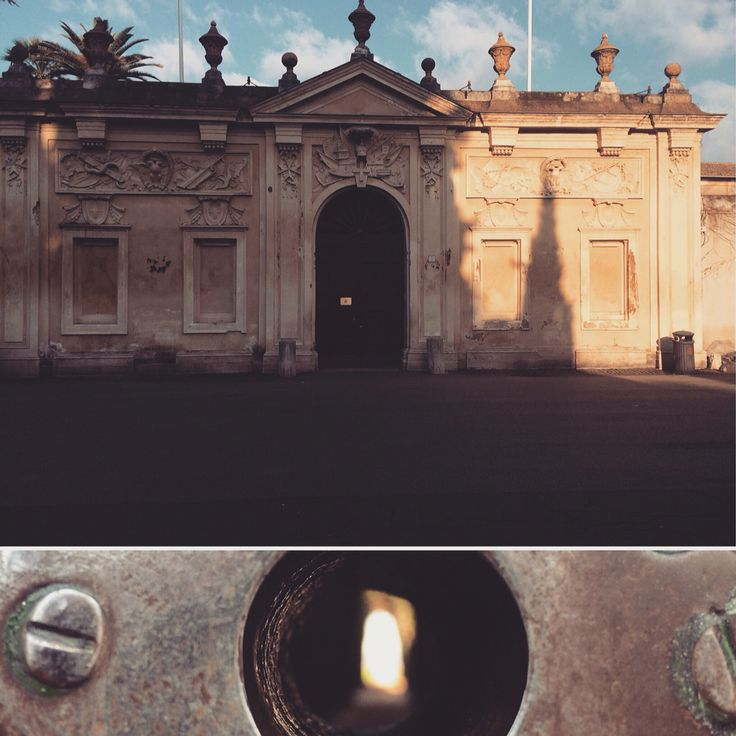 Molti conoscono la #serratura da cui vede il #Vaticano, pochi ricordano la facciata S.Alessio