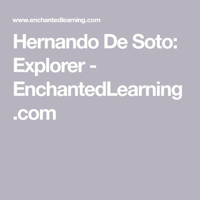 Hernando De Soto: Explorer - EnchantedLearning.com