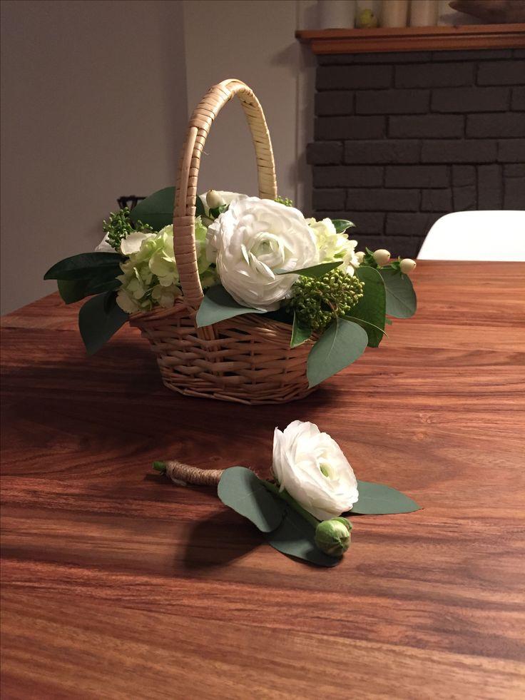 Flower Girl Basket & Boutonnière
