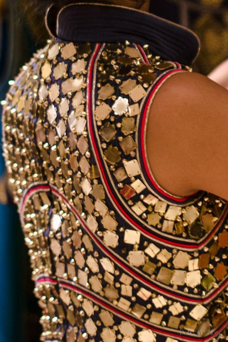 indian south asian desi fashion detail. gold. WIFW SS 2014: Anaikka by Kanika Saluja