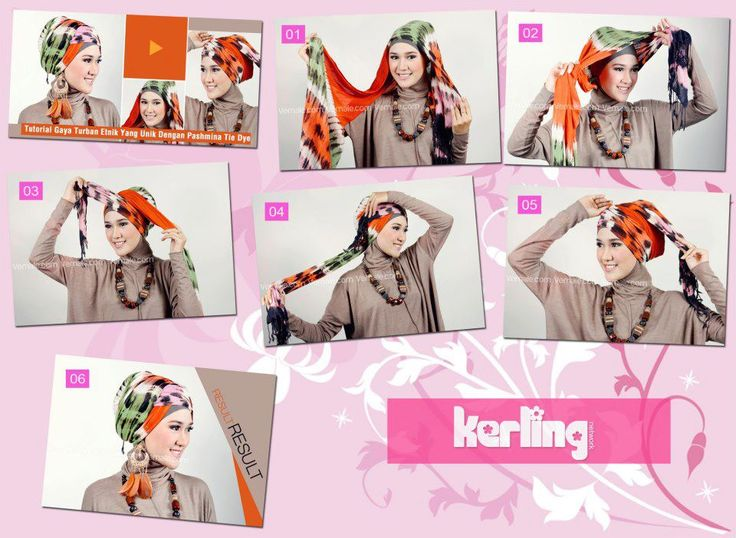 Kreasi Hijab Cantik dengan Pashmina Tiedye - Dorie Shop