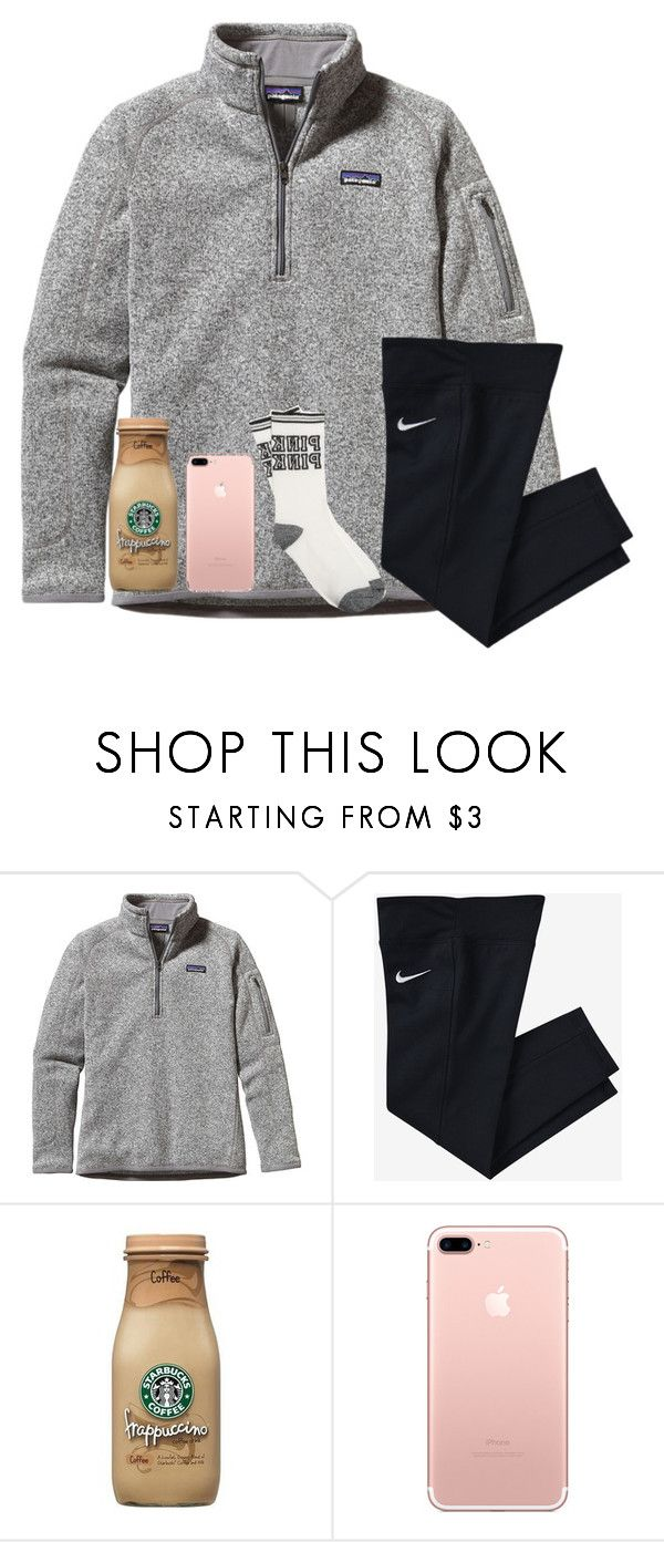 """what grade are you in?"" by ellienoonan ❤ liked on Polyvore featuring Patagonia and NIKE"