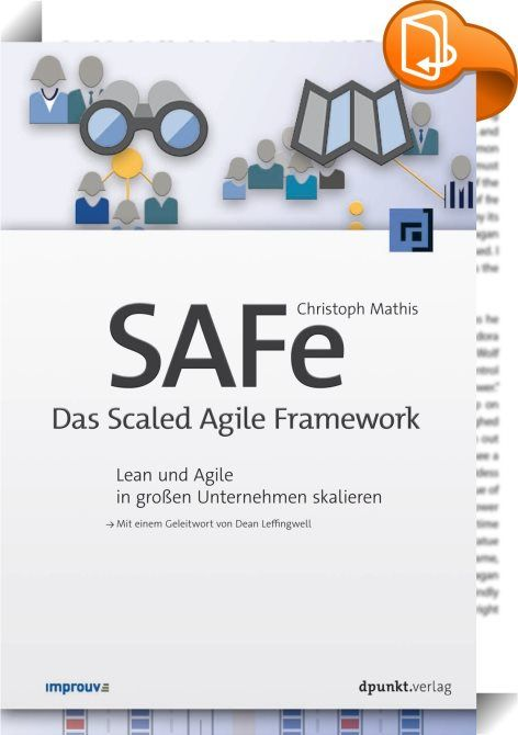 SAFe - Das Scaled Agile Framework    ::  Agile Softwareentwicklung ist zum Mainstream geworden. Zahlreiche Unternehmen wagen sich inzwischen auch an größere Entwicklungsvorhaben mit agilen Methoden heran. Dabei geht es nicht nur um die Veränderung der Arbeitsweise einzelner Teams, sondern um den Wandel zum agilen Unternehmen, d.h. um die Kultur und die Organisation, die agile Teams formt und ihnen die Möglichkeit eröffnet, effektiv zu arbeiten.  Das Scaled Agile Framework (SAFe) ist ei...