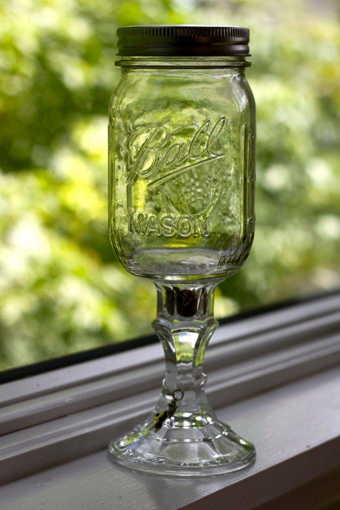 Best 25 Mason Jar Wine Glass Ideas On Pinterest Etched