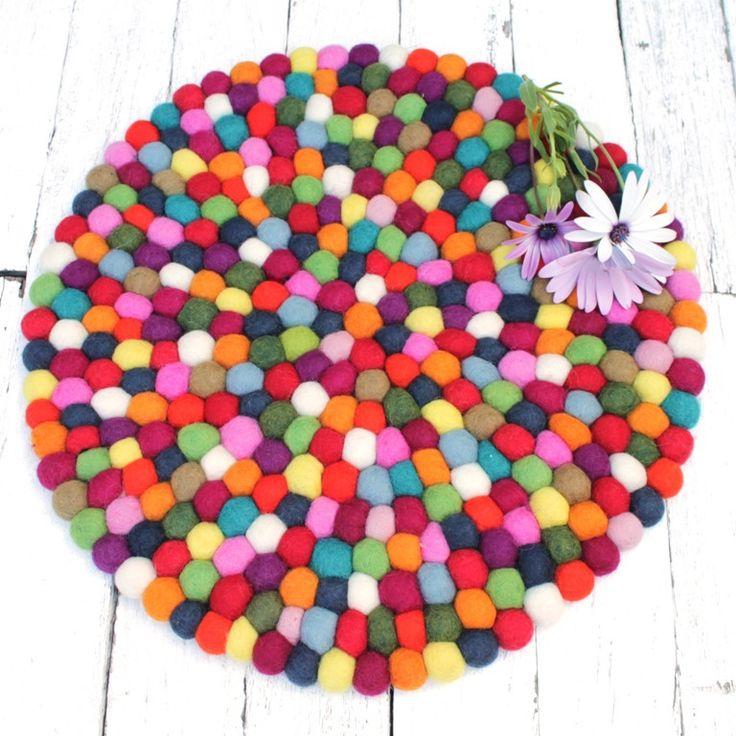 Felt Ball Centrepiece multicolour | 40cm All our felt pieces are handmade by our artisan producers in Nepal