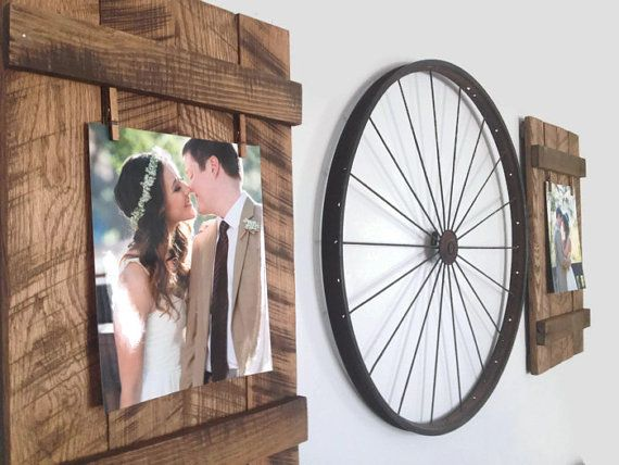 Rustic Reclaimed 8x10 Pallet Picture Frame by DunnRusticDesigns